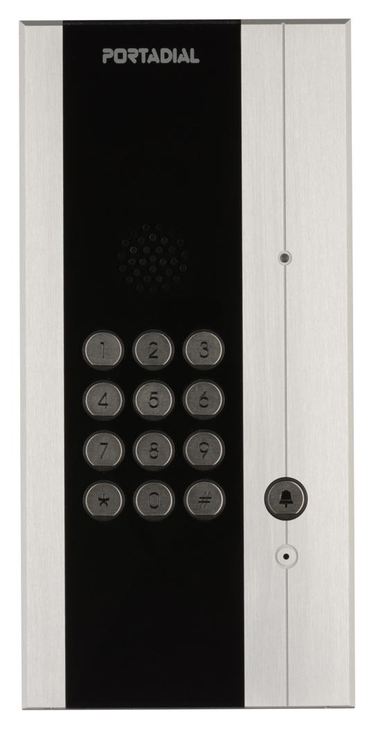 Portadial audio deurintercom met codeklavier