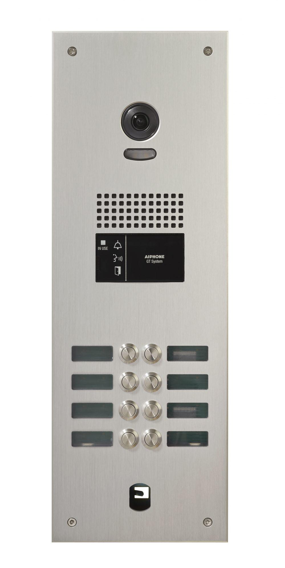 rvs video deurintercom met 8 drukknoppen