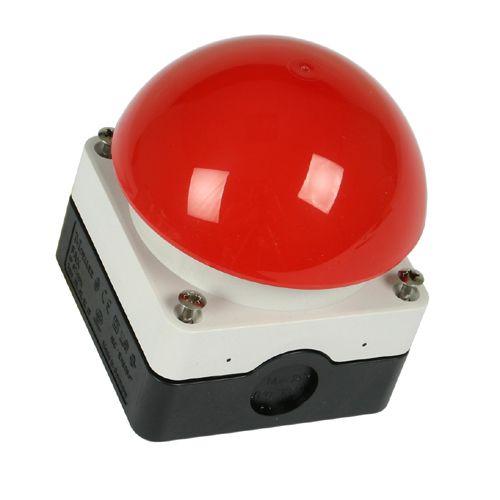 paddestoel alarmknop rood