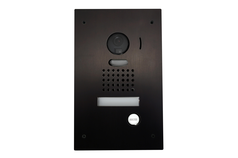 Zwarte inbouw intercom met camera