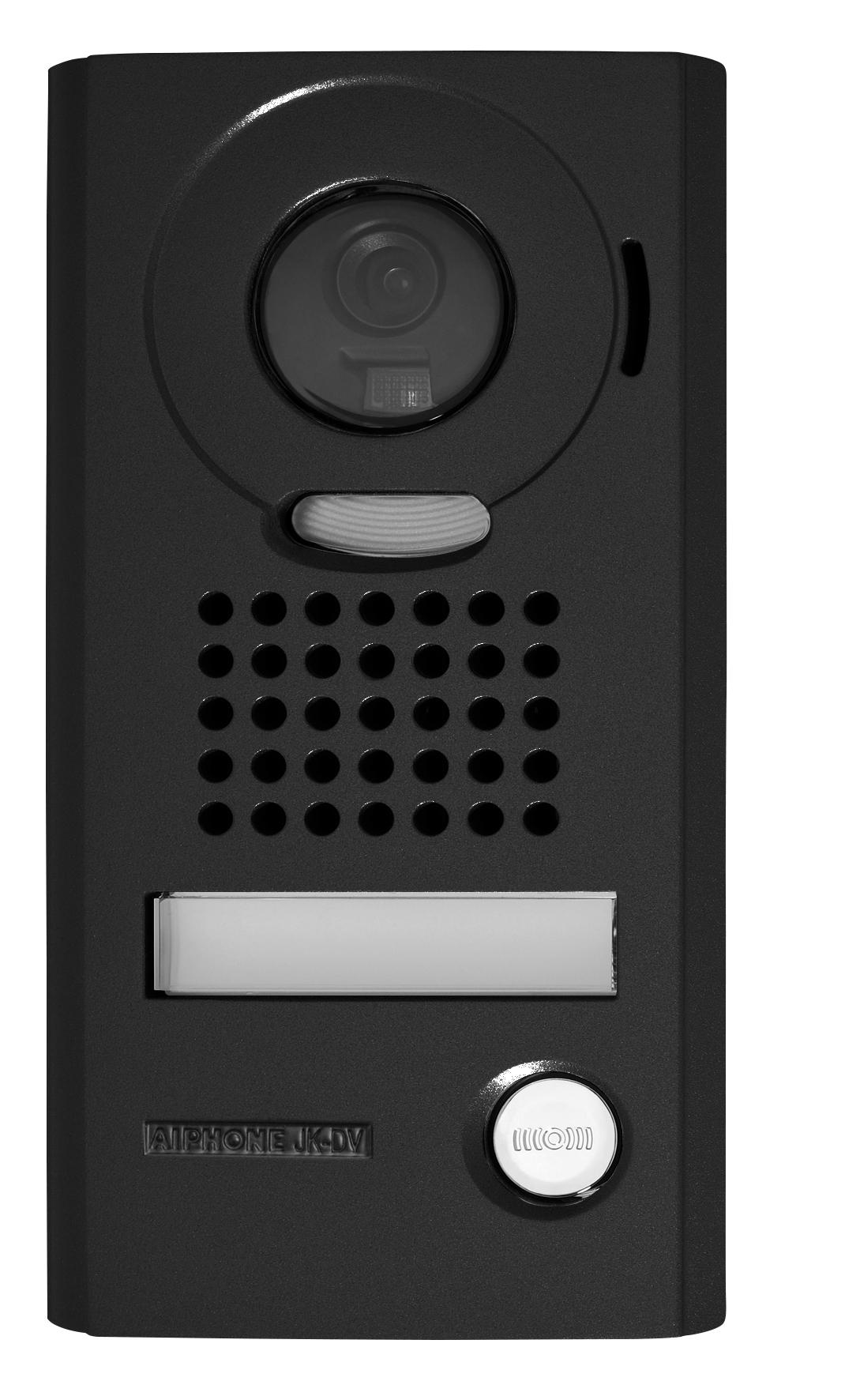 Zwarte ombouw video deurintercom