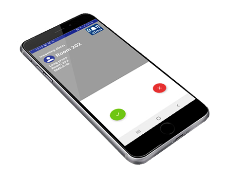 Verpleegoproep systeem via smartphone